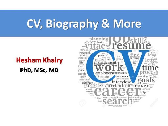 CV, Biography & More